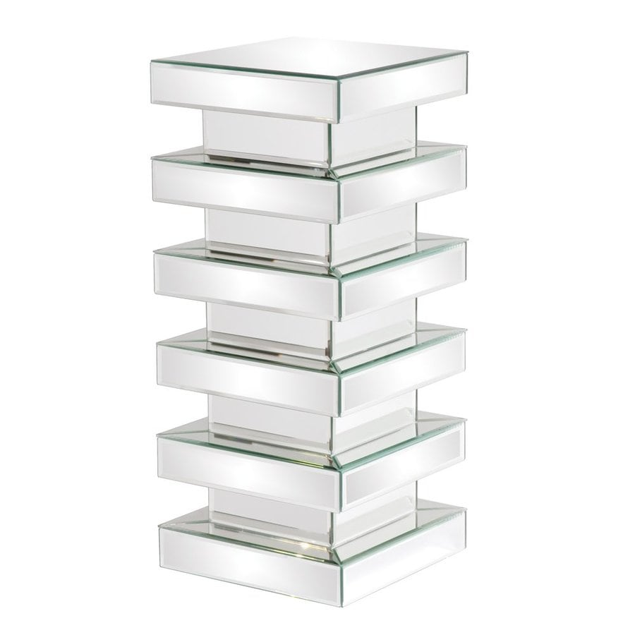 Tyler Dillon 28-in Mirror Indoor Square Glass Plant Stand