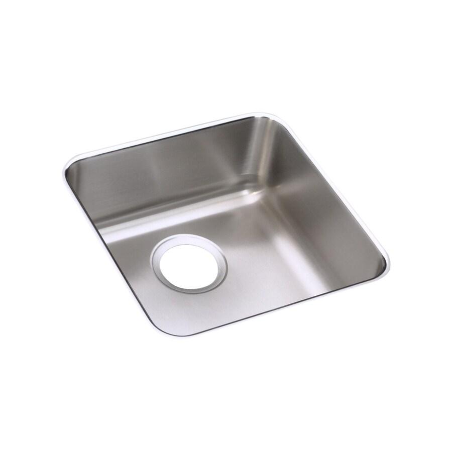 Elkay Gourmet 14.5-in x 14.5-in Stainless Steel Single-Basin Undermount Commercial/Residential Kitchen Sink