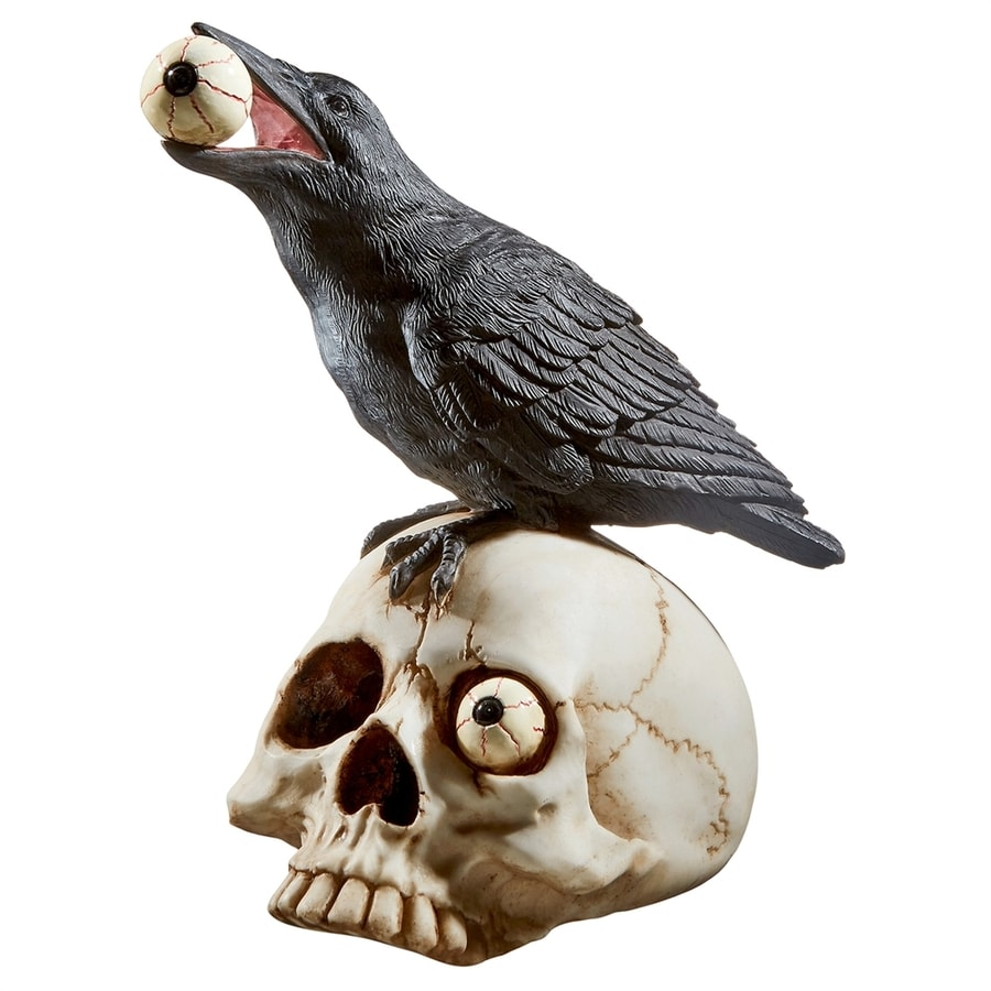 Design Toscano Skeleton And Crow Sculpture