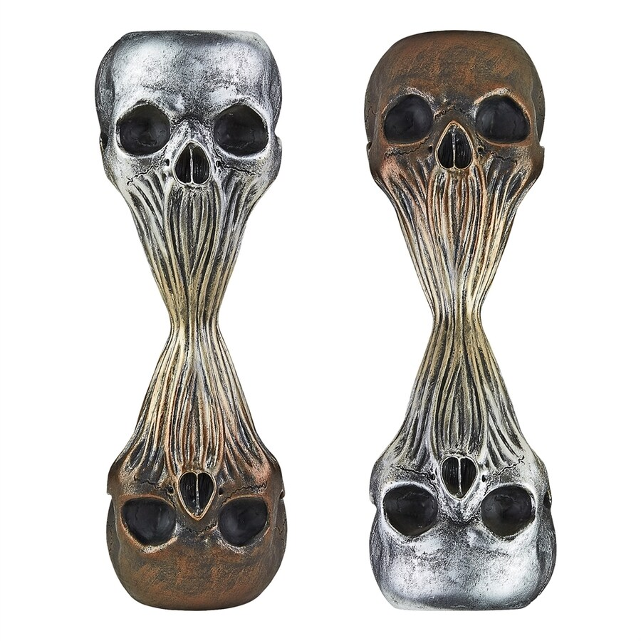 Design Toscano Set of 2 Liquid Death Skull Sculptures