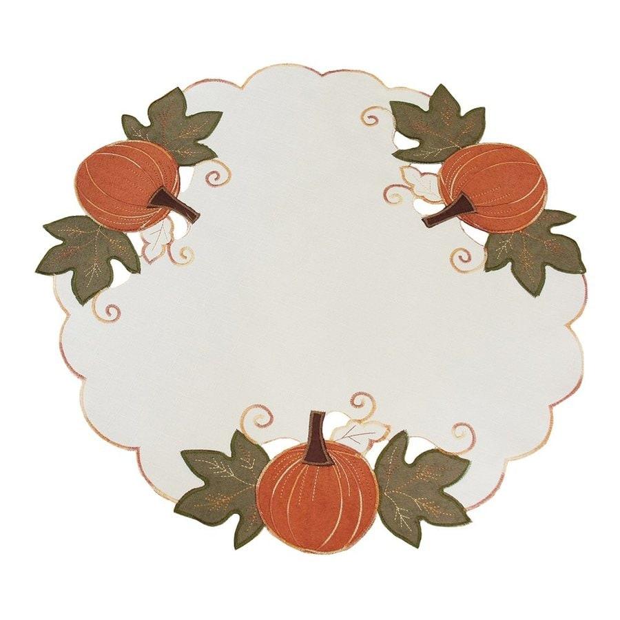 XIA Home Fashions 4-Piece Fabric Pumpkin Placemat