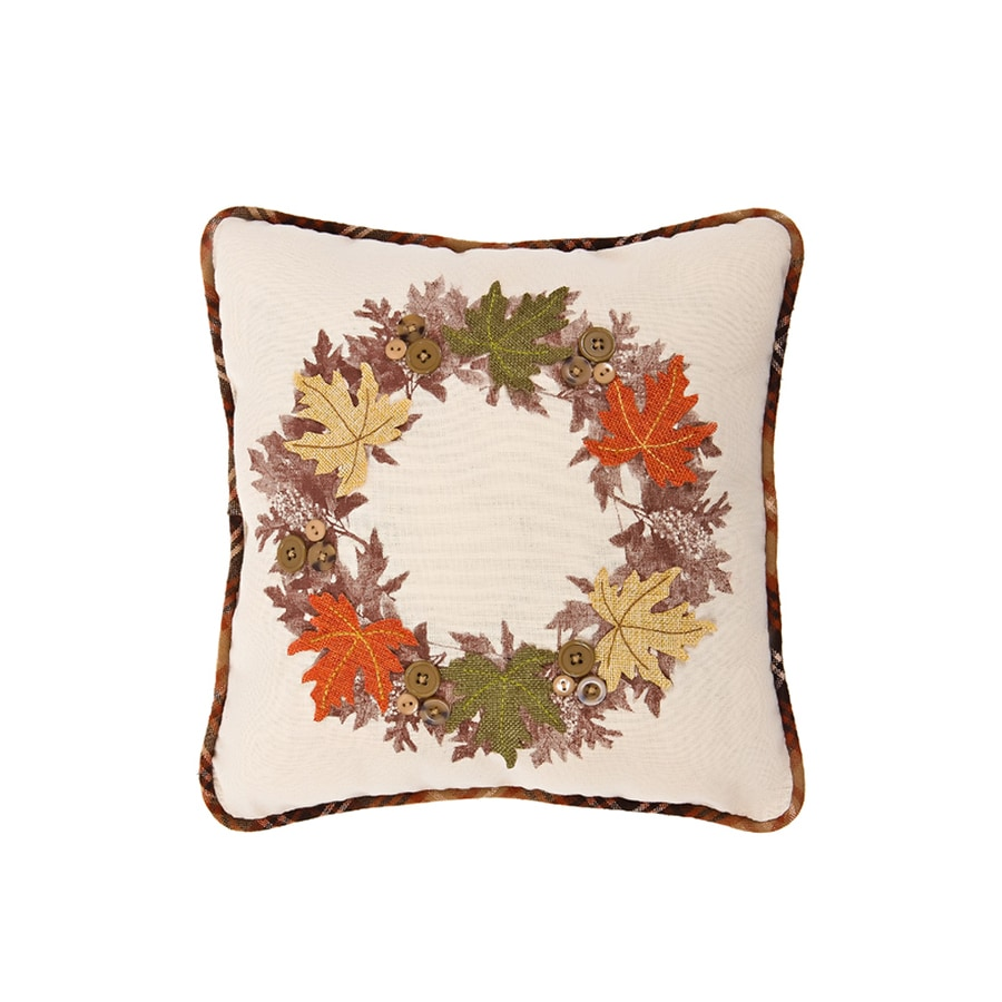 XIA Home Fashions Cotton Leaves Pillow