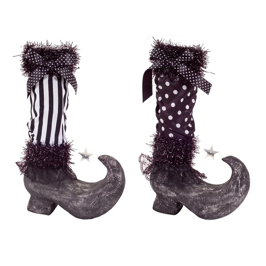 Melrose International Set Of 2 Witch Bpoot Tabletop Decorations