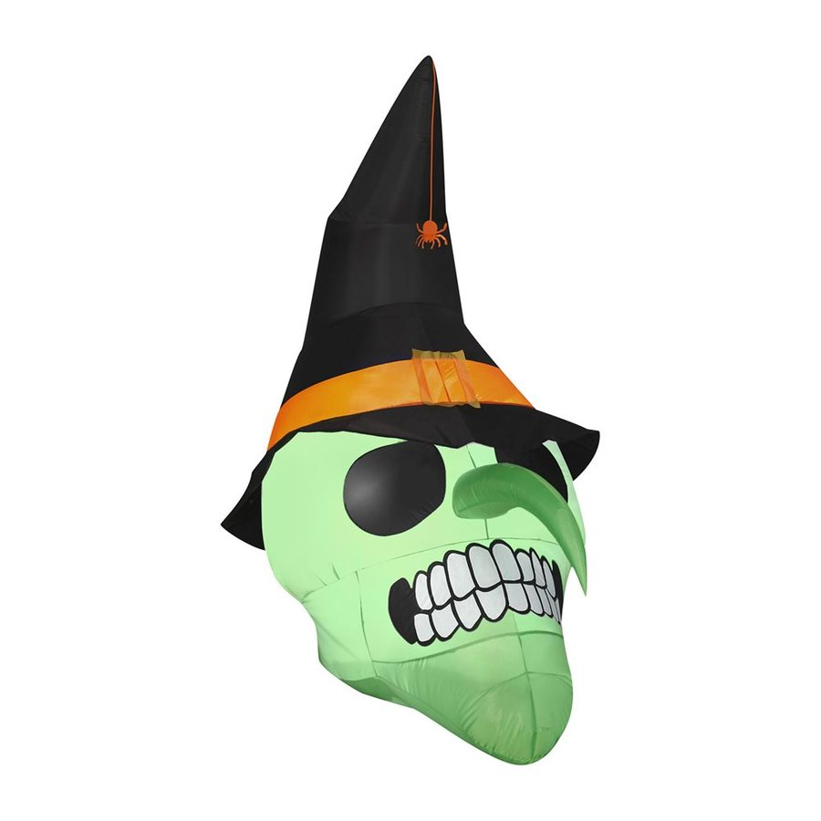 J. Marcus 6-ft x Lighted Witch Halloween Inflatable