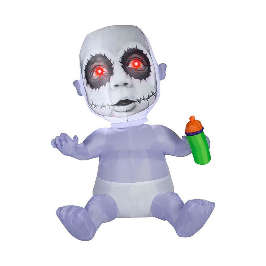 J. Marcus 5.5-ft x Lighted Creepy Baby Halloween Inflatable