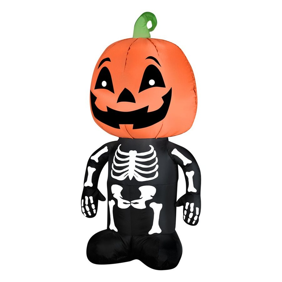 Gemmy 3-ft 6-in x 1-ft 4-in Lighted Pumpkin Boy Halloween Inflatable