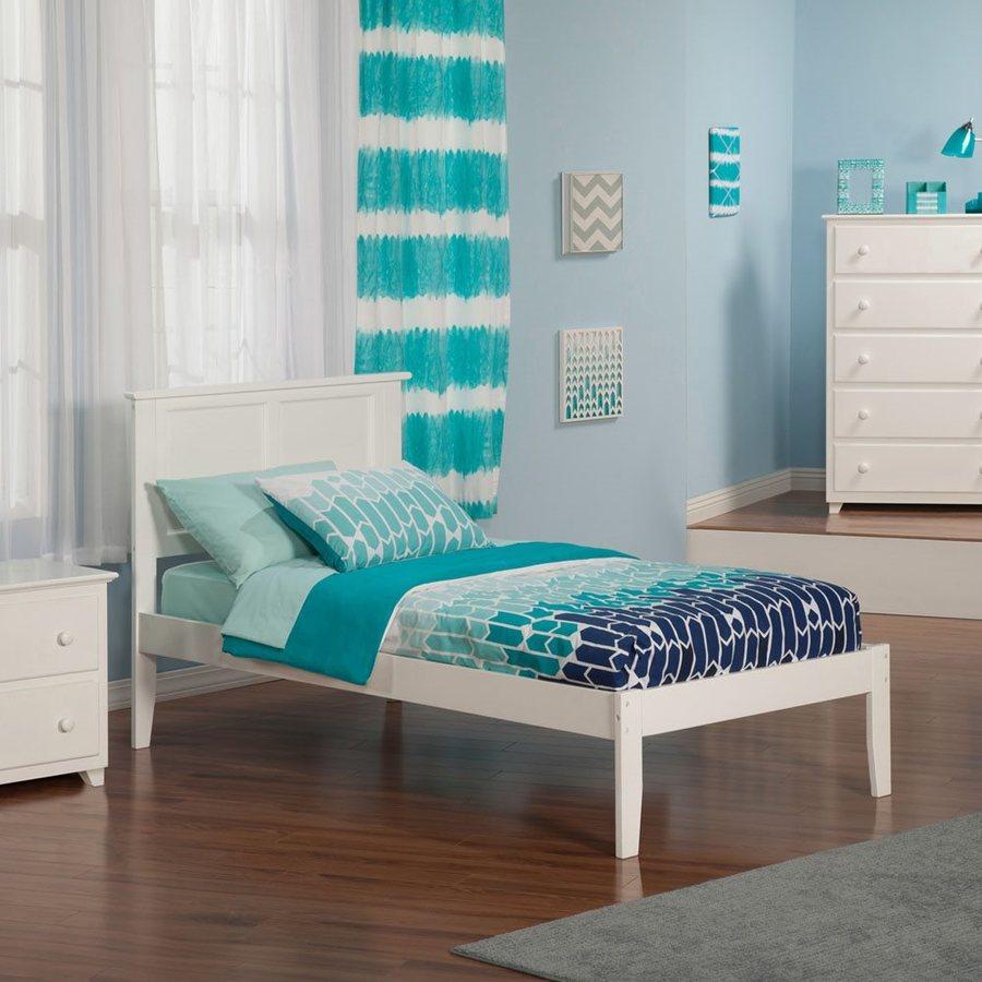 Atlantic Furniture Madison White Twin Platform Bed