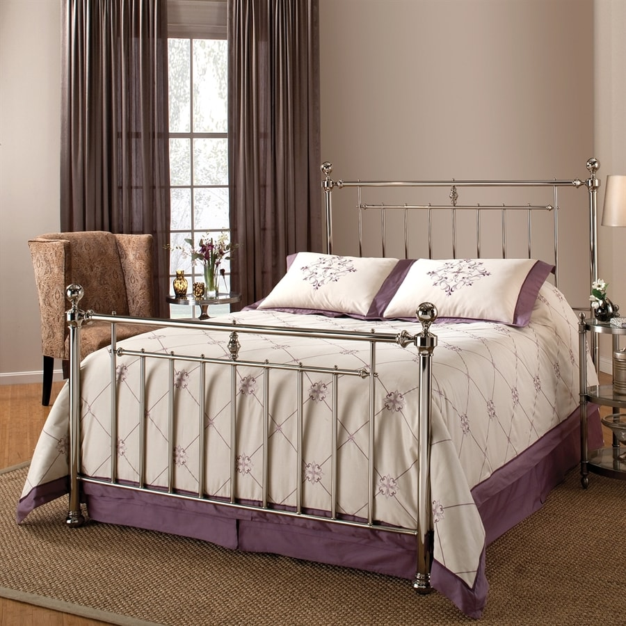 Hillsdale Furniture Holland Shiny Nickel Twin 4-Poster Bed