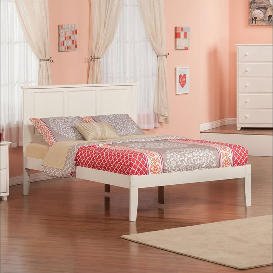 Atlantic Furniture Madison White Full Platform Bed