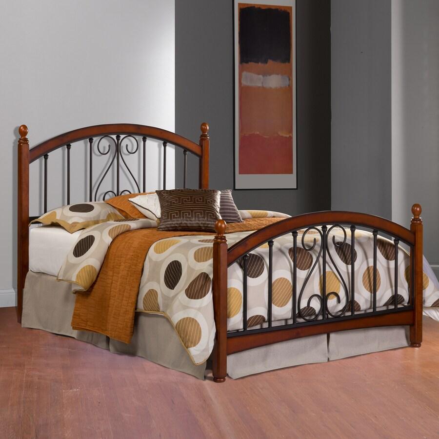 Hillsdale Furniture Burton Cherry/Textured Black King 4-Poster Bed