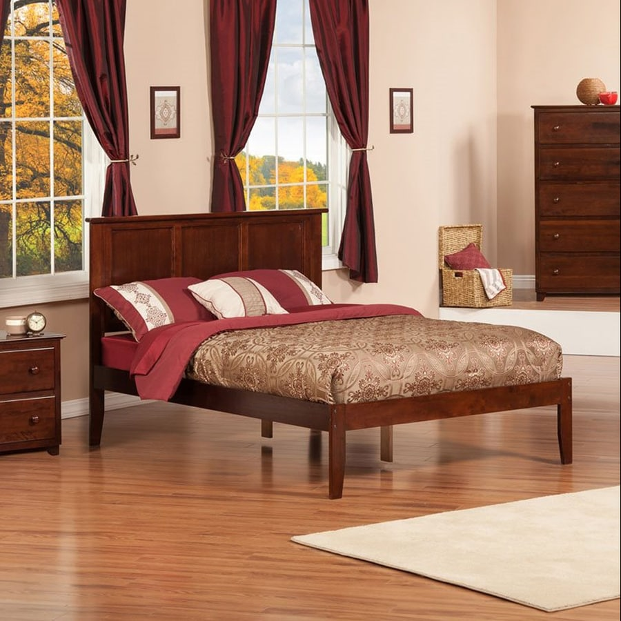 Atlantic Furniture Madison Antique Walnut Full Platform Bed