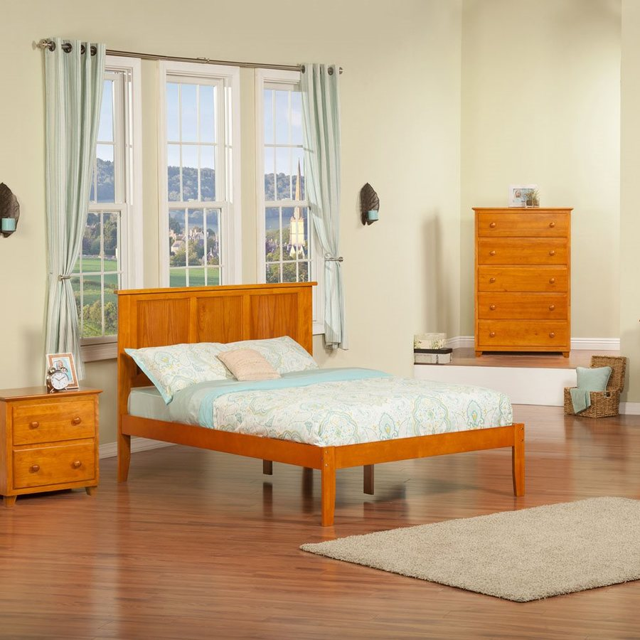 Atlantic Furniture Madison Caramel Latte Full Platform Bed