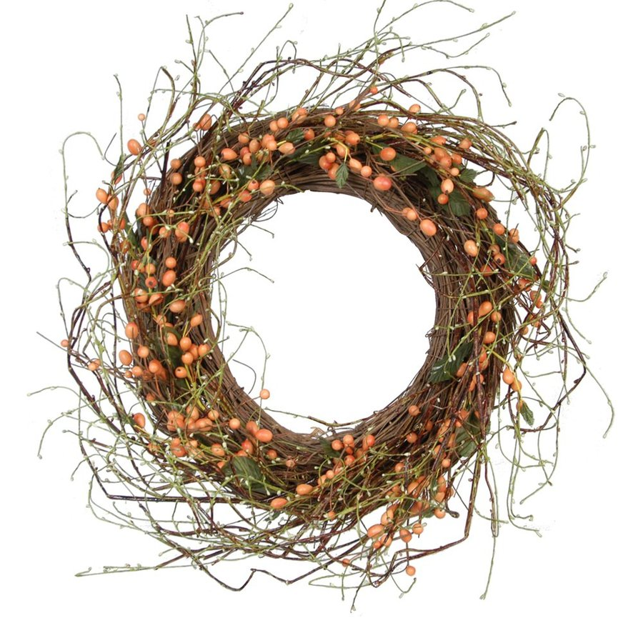 Fantastic Craft 22-in Rose Hip Artificial Thanksgiving Wreath  Lights