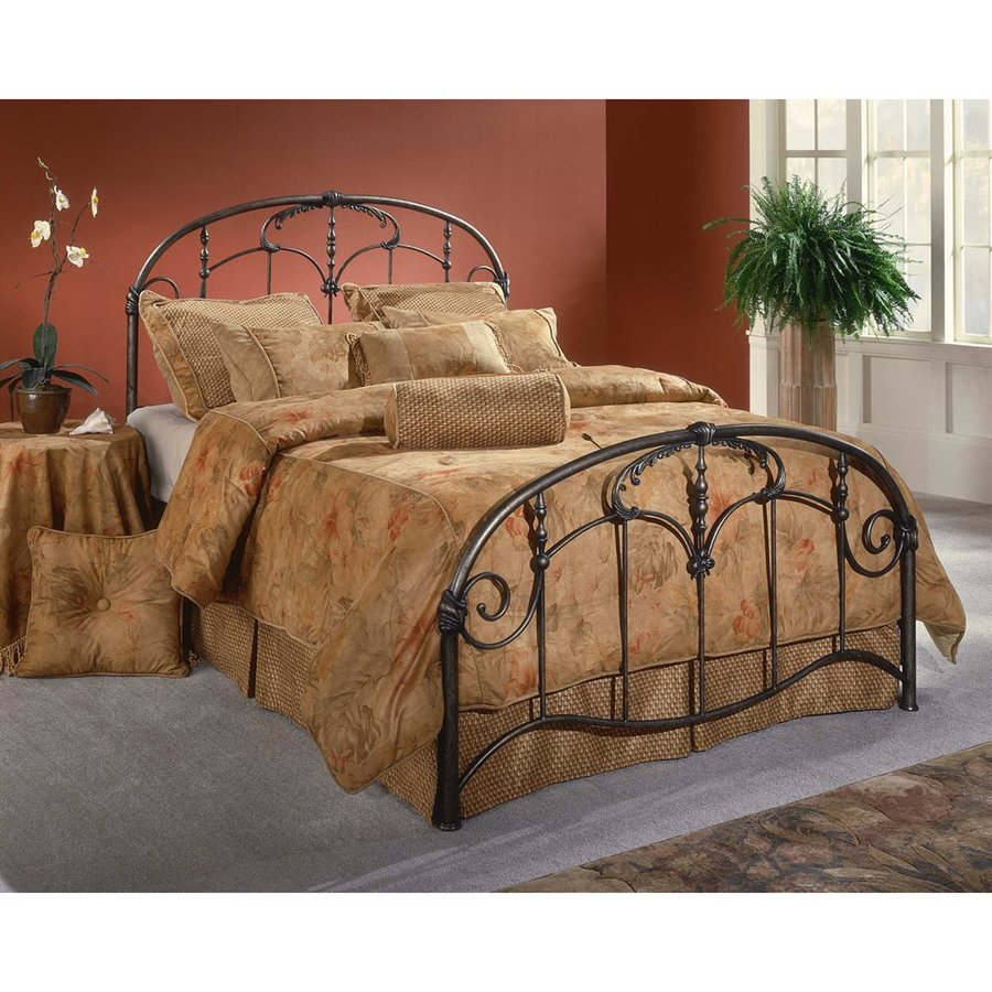 Hillsdale Furniture Jacqueline Old Brushed Pewter Queen Panel Bed