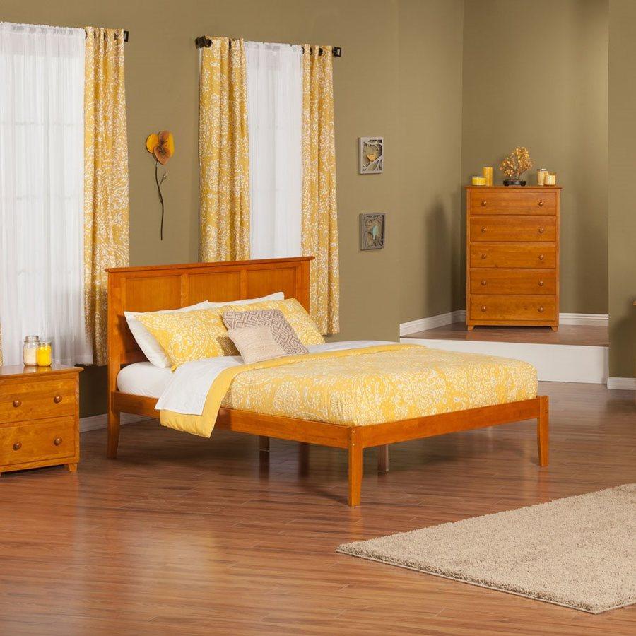 Atlantic Furniture Madison Caramel Latte Queen Platform Bed