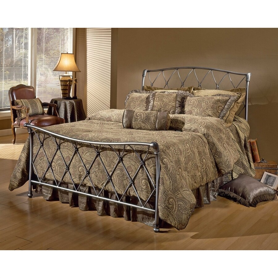 Hillsdale Furniture Silverton Brushed Silver Full Sleigh Bed