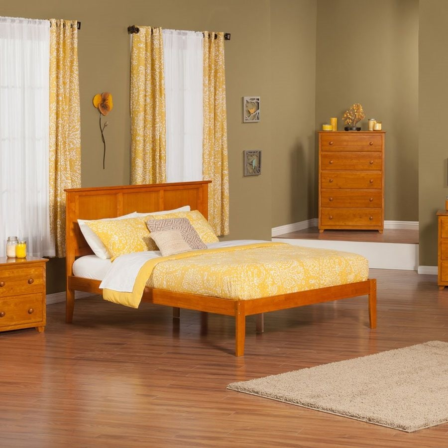 Atlantic Furniture Madison Caramel Latte King Platform Bed