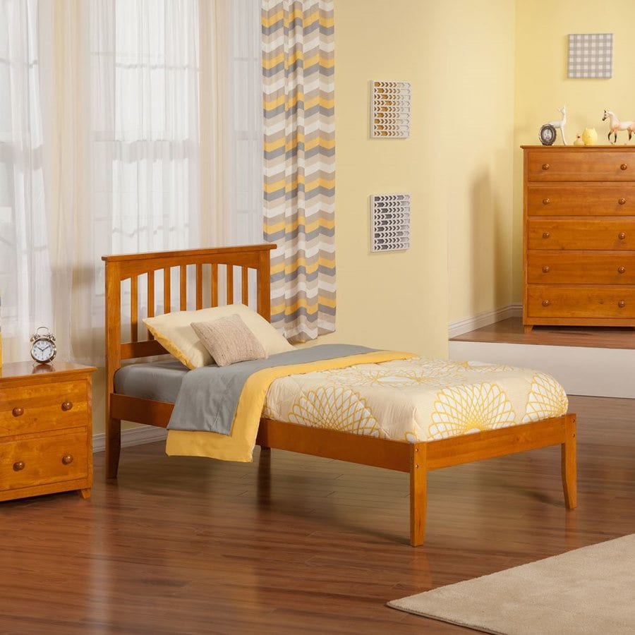 Atlantic Furniture Mission Caramel Latte Twin Xl Platform Bed