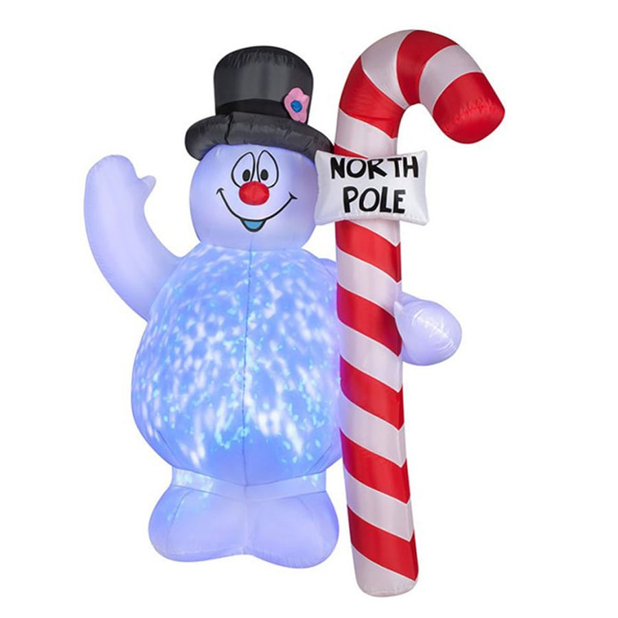 J. Marcus 5.5-ft x 3.92-ft Lighted Frosty Christmas Inflatable