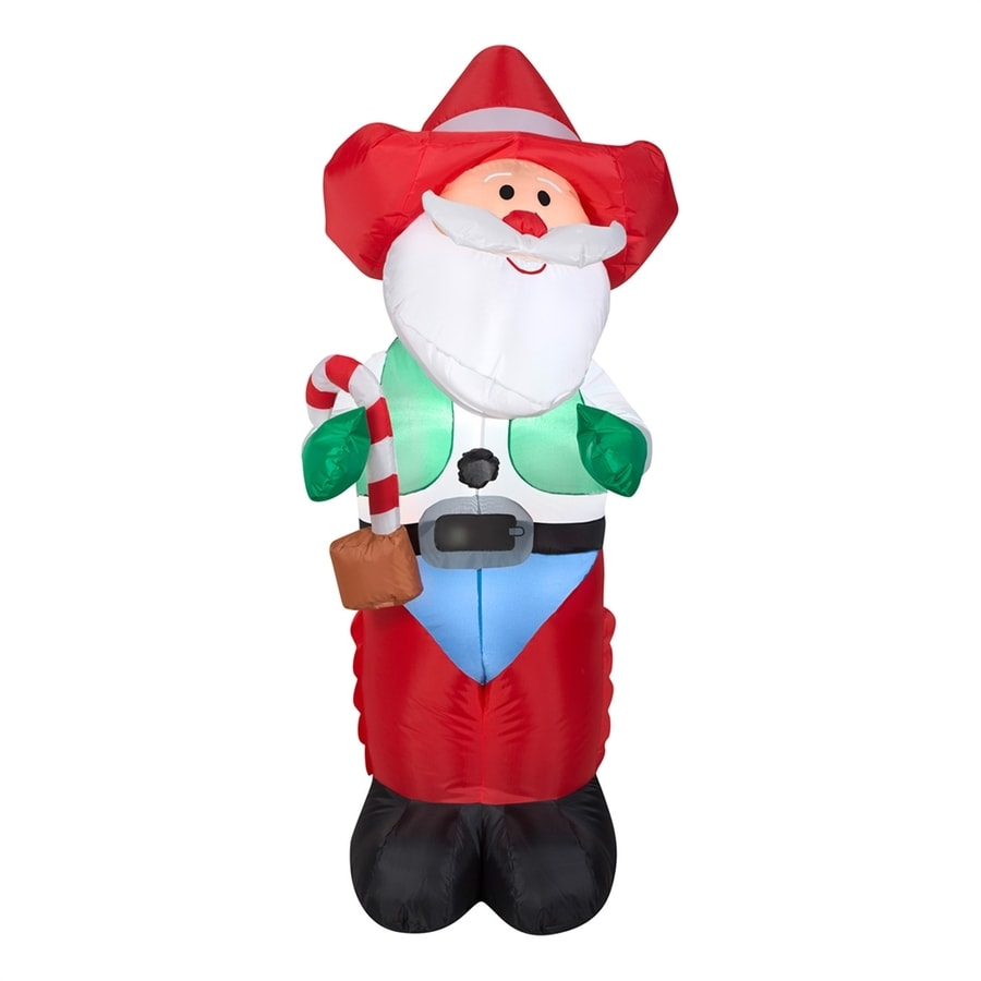 J. Marcus 4-ft x 1-ft 10-in Lighted Cowboy Santa Christmas Inflatable