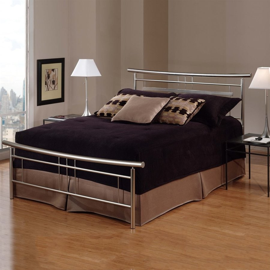 Hillsdale Furniture Soho Brushed Nickel Queen Panel Bed
