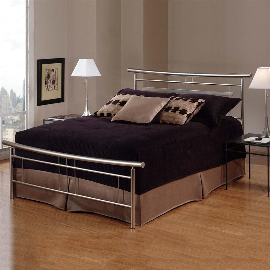 Hillsdale Furniture Soho Brushed Nickel King Panel Bed