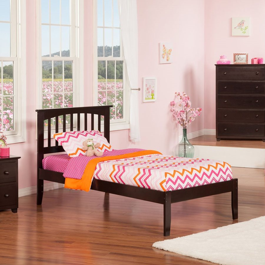 Atlantic Furniture Mission Espresso Twin Platform Bed