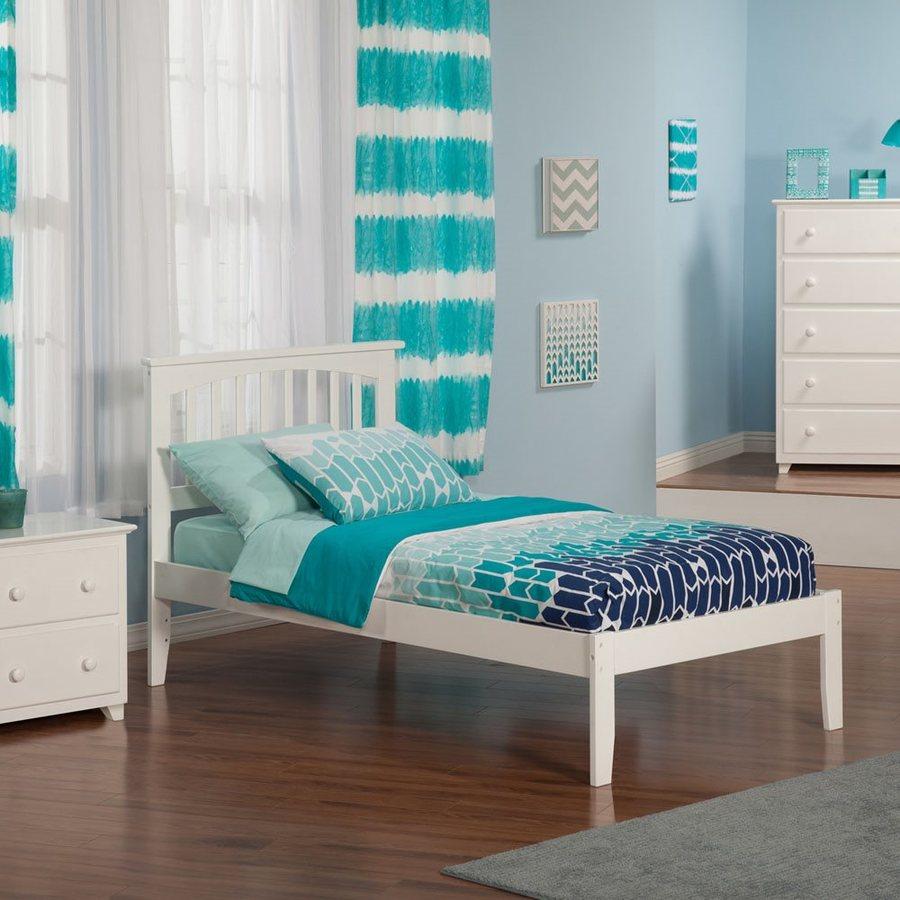 Atlantic Furniture Mission White Twin Platform Bed