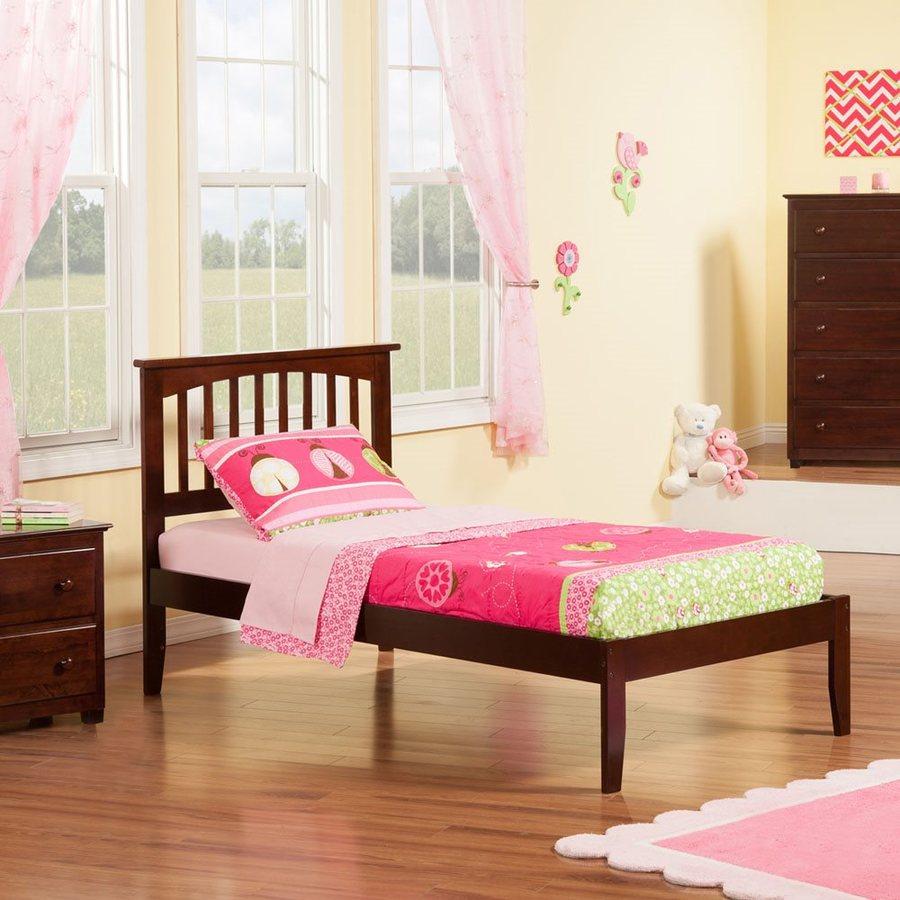 Atlantic Furniture Mission Antique Walnut Twin Platform Bed