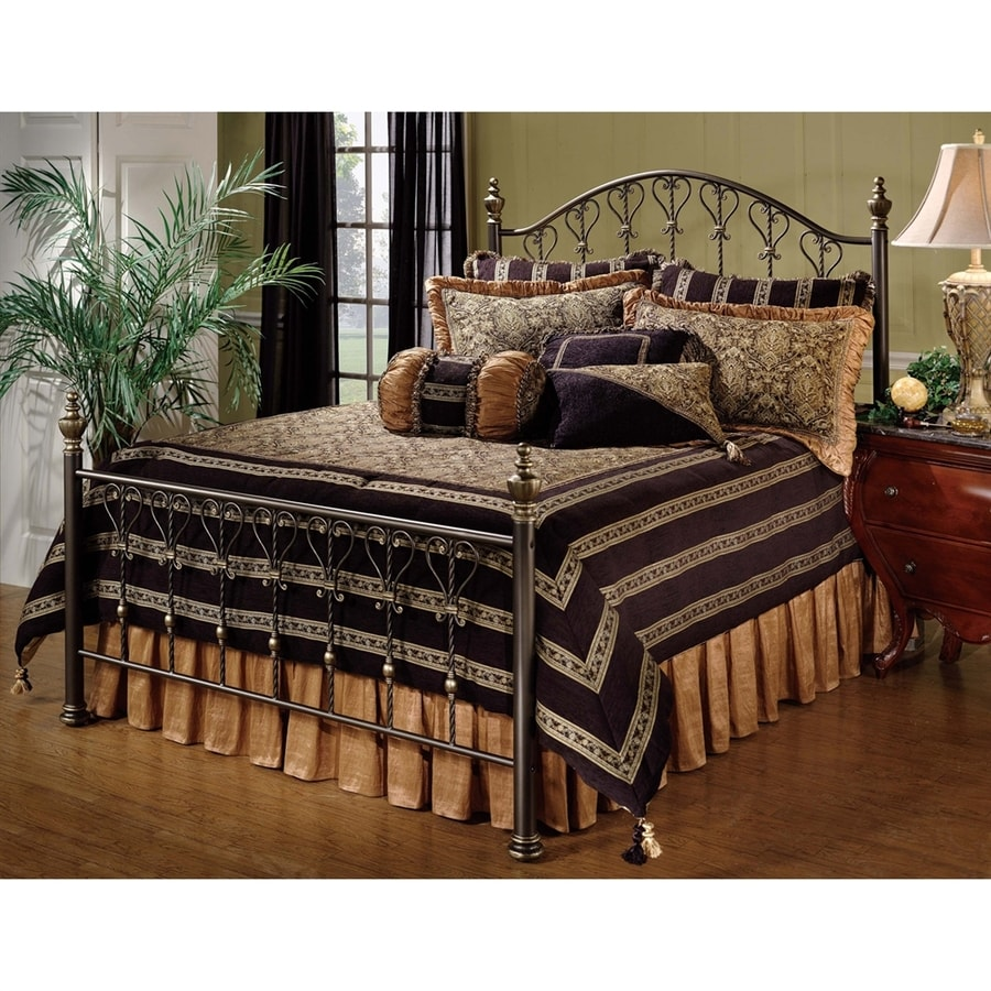 Hillsdale Furniture Huntley Dusty Bronze Queen 4-Poster Bed