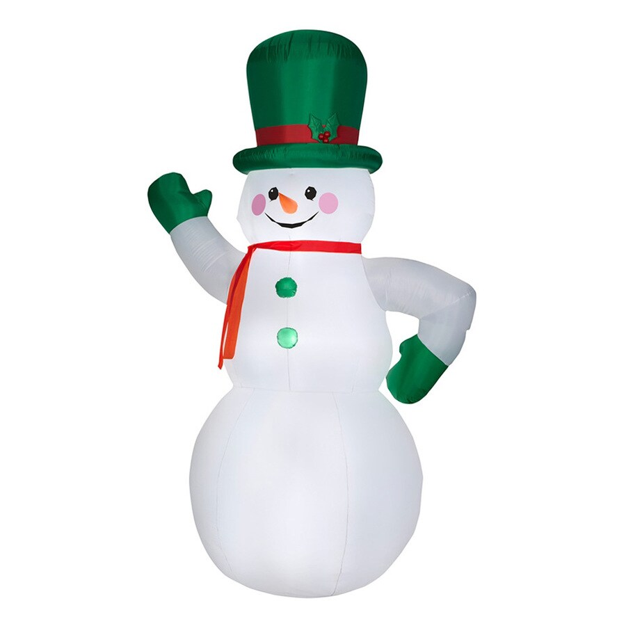 J. Marcus 10-ft x 6.25-ft Lighted Snowman Christmas Inflatable