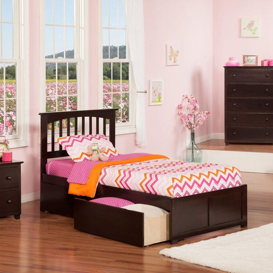 Atlantic Furniture Mission Espresso Twin Platform Bed With Storage