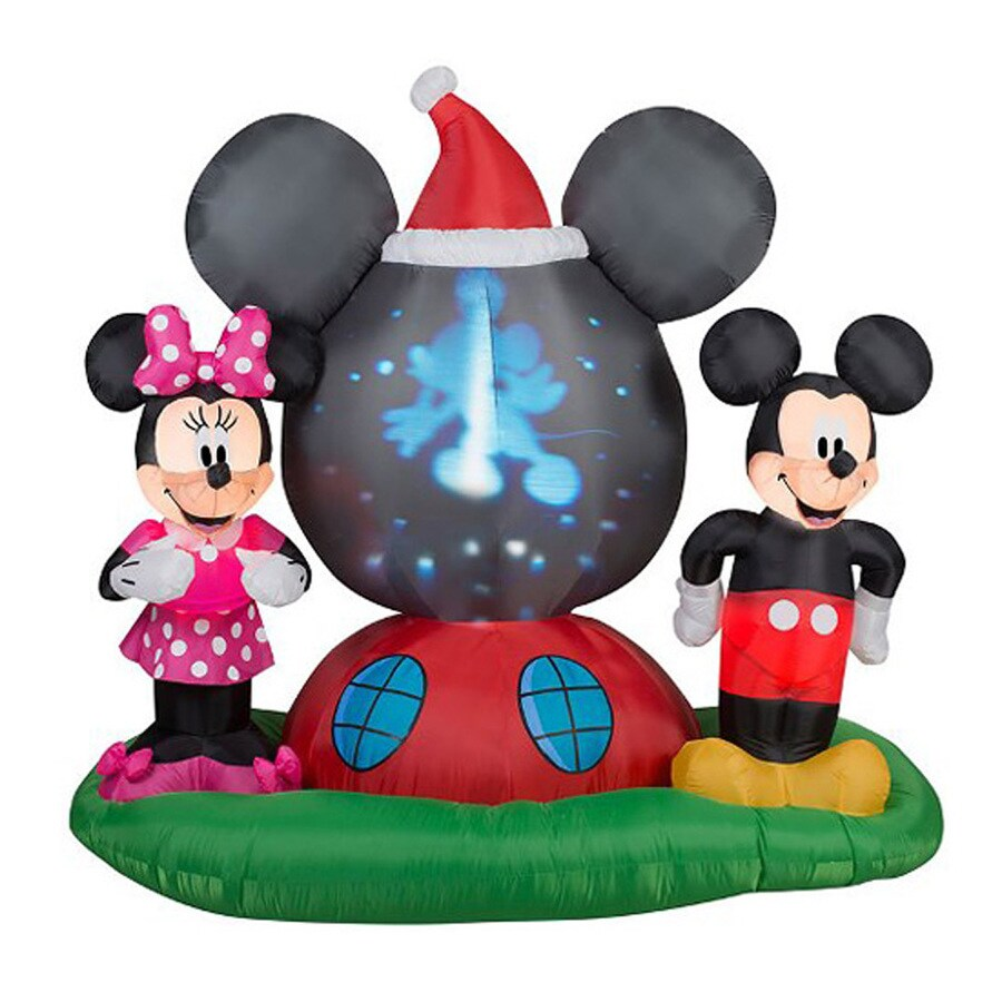 J. Marcus 6-ft x 6.33-ft Lighted Mickey Mouse Christmas Inflatable