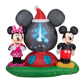 j marcus 6 ft x 633 ft lighted mickey mouse christmas inflatable - Lowes Inflatables