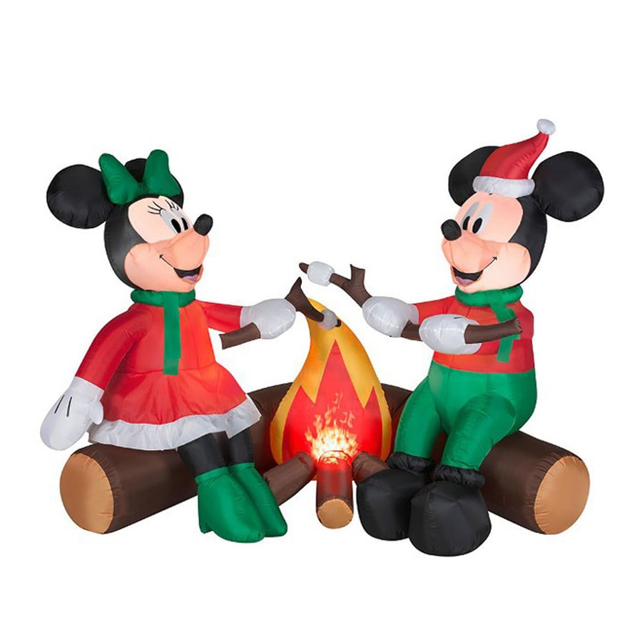 J. Marcus 4-ft x 5.5-ft Lighted Mickey Mouse Christmas Inflatable