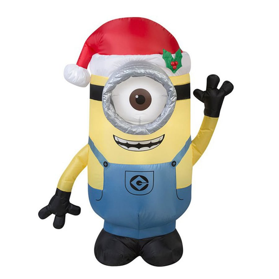 J. Marcus 3-ft 6-in x 2-ft 6-in Lighted Minion Stuart Christmas Inflatable