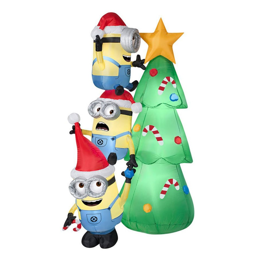 J. Marcus 6-ft x 3.58-ft Lighted Minion Christmas Inflatable
