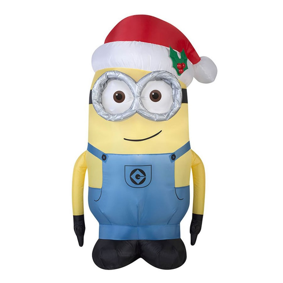 J. Marcus 5-ft x 3-ft Lighted Minion Christmas Inflatable