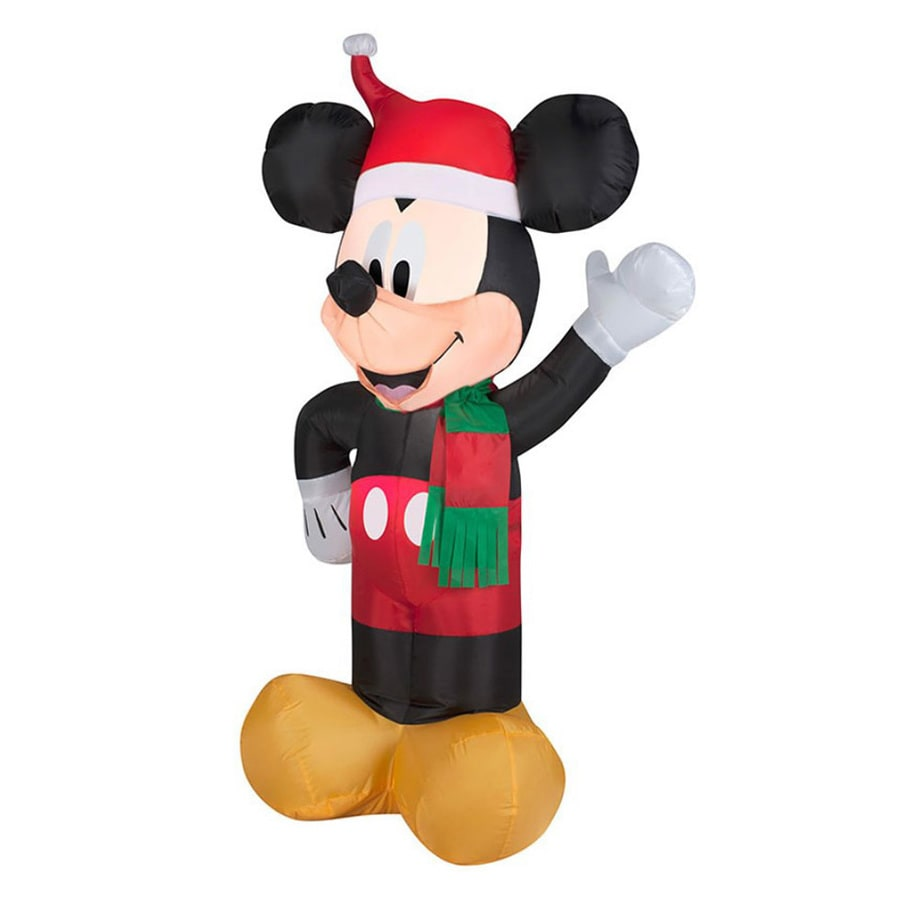 J. Marcus 3-ft 6-in x 2-ft 3-in Lighted Mickey Mouse Christmas Inflatable