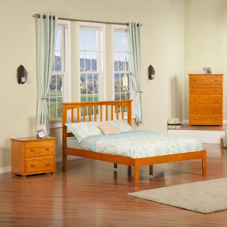 Atlantic Furniture Mission Caramel Latte Full Platform Bed