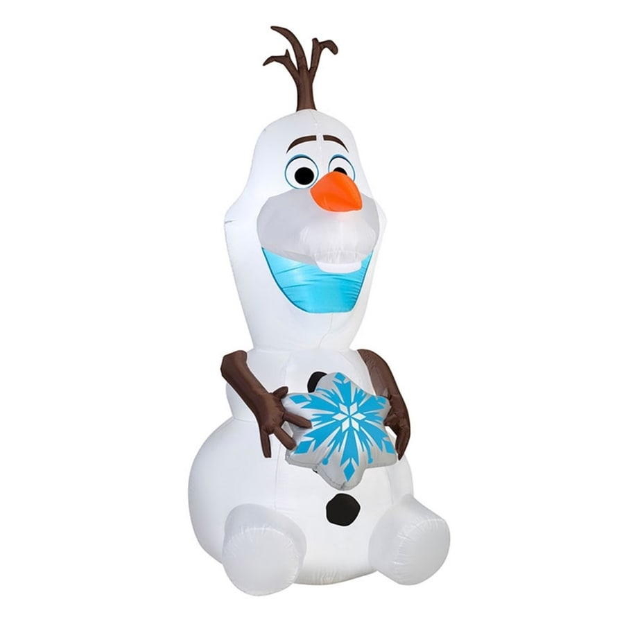 J. Marcus 6-ft x 2-ft 8-in Lighted Olaf Christmas Inflatable