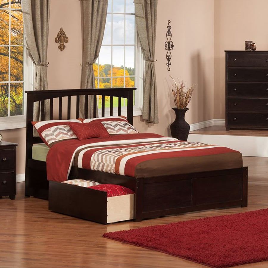 Atlantic Furniture Mission Espresso Full Platform Bed With Storage