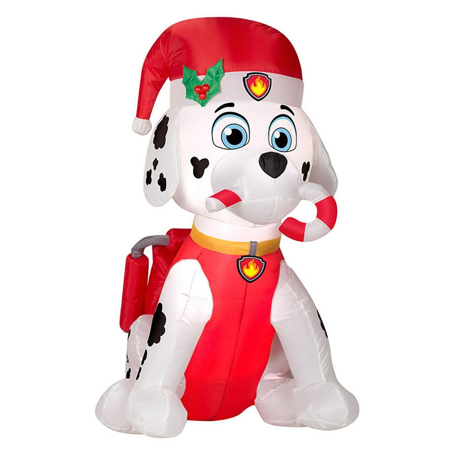 J Marcus 3 Ft X 1 67 Ft Lighted Dog Christmas Inflatable