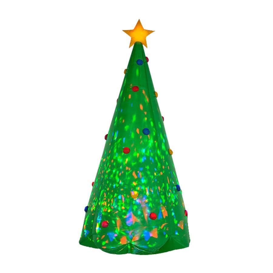 J. Marcus 8-ft x 3.67-ft Lighted Christmas Tree Christmas Inflatable