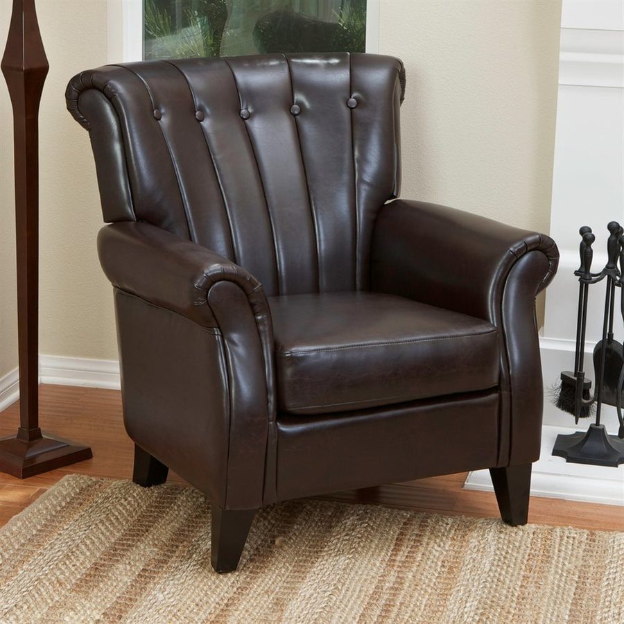 Best Selling Home Decor Clifford Casual Brown Faux Leather Club Chair