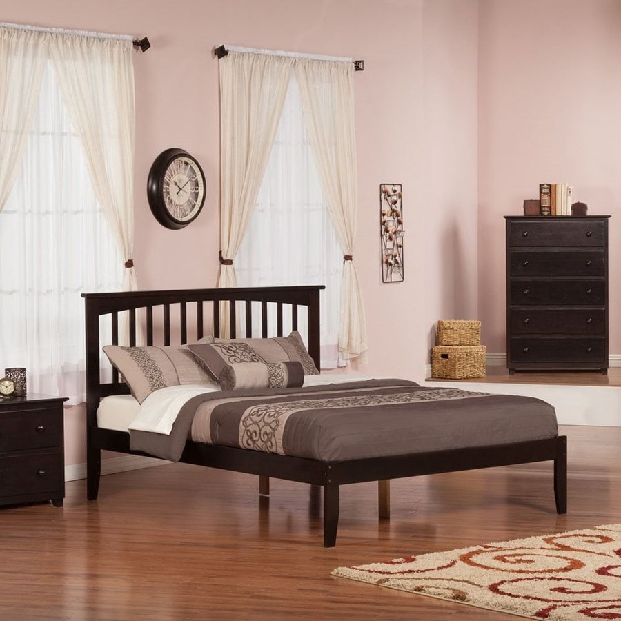 Atlantic Furniture Mission Espresso King Platform Bed