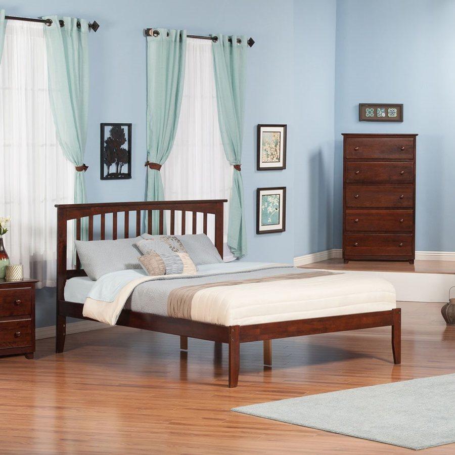 Atlantic Furniture Mission Antique Walnut King Platform Bed