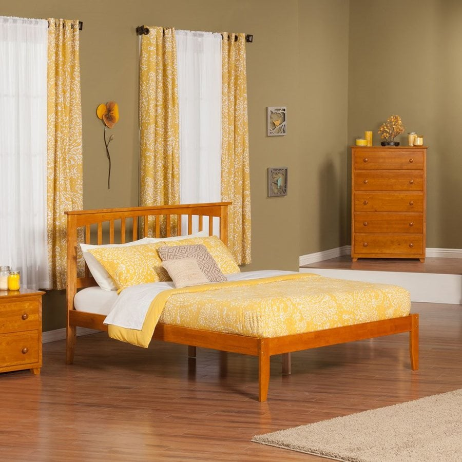 Atlantic Furniture Mission Caramel Latte King Platform Bed