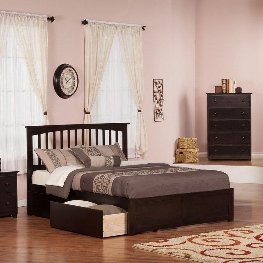 Atlantic Furniture Mission Espresso King Platform Bed With Storage