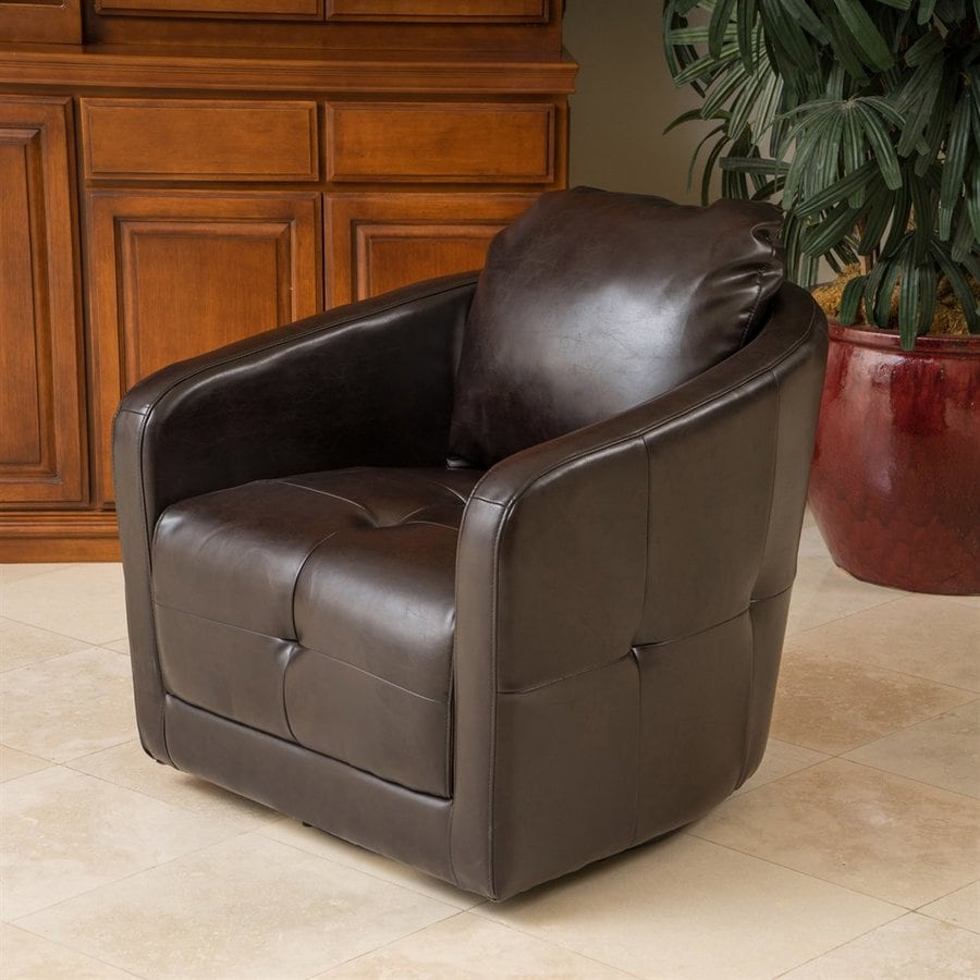 Best Selling Home Decor Concordia Modern Brown Faux Leather Accent Chair